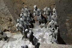 Chodzi bliżej do terakotowych wojowników w ` XI., Chiny Ja ` s t obrazy stock
