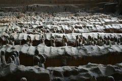 Chodzi bliżej do terakotowych wojowników w ` XI., Chiny Ja ` s t zdjęcie stock