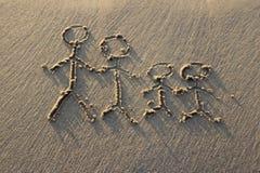 Chodzi na świeżej plaży blisko morza obraz royalty free