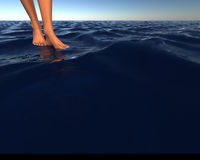 Chodzić na wodzie Zdjęcia Stock