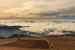 Chodzić nad chmury jest luksusem obrazy royalty free