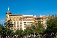Chodzi przez San Sebastian lub Donostia w Baskijskim kraju w Hiszpania fotografia stock