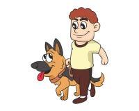 Chodzi psią ilustrację z gradientami Obrazy Royalty Free