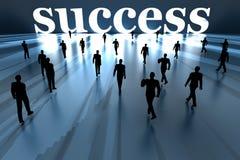 Chodzić w kierunku sukcesu Zdjęcia Stock