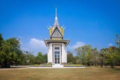 CHOEUNG EK杀害领域的纪念STUPA,柬埔寨2 免版税库存照片