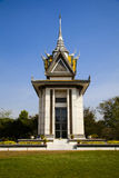 Choeung Ek ou champs de massacre commémoratifs image stock