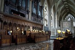 Choeur, Bristol Cathedral, Angleterre, Royaume-Uni images libres de droits