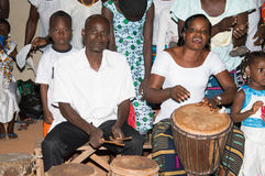 Choeur de percussionnistes Photo stock