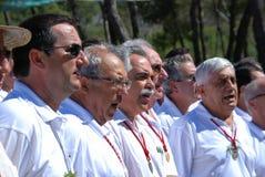 Choeur masculin espagnol de voix Image stock