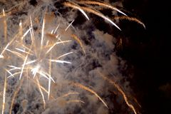 Chofu Autumn Fireworks Festival 2018 fotografia de stock royalty free
