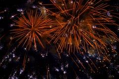 Chofu jesieni fajerwerków festiwal 2018 zdjęcie royalty free