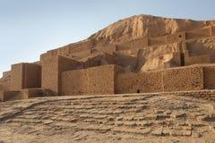 Chogha Zanbil,伊朗东北楼梯  库存照片