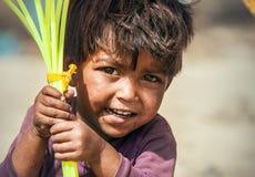 Free Choglamsar, Ladakh Region, India - August 19, 2016: Little Indian Boy Sells The Ballons On AUGUST 19, 2016 In Choglamsar, Leh Stock Photos - 195060323