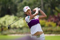 Choi beendet ihr Schwingen an LPGA Malaysia Lizenzfreies Stockfoto