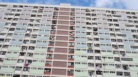 Choi Hung Estate in Hong Kong stock videobeelden