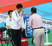Choi Young Seok head coach of Thailand Royalty Free Stock Image