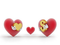 Choice. Which always stands before a man: money or love Royalty Free Stock Photography