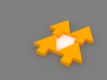 Choice. Five 3d arrows oriented in different direction. Business concept Royalty Free Stock Images