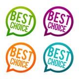 choice bäst knappar Vektor för cirkel Eps10 vektor illustrationer
