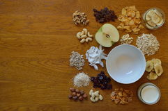 Choice of cereals for breakfast royalty free stock images