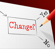 Choice Change Means Reforms Changed And Path Stock Photos