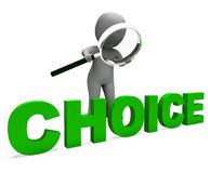 Choice Character Shows Choices Dilemma Or Options Stock Photos