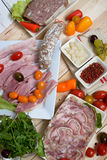 Choice of cold cuts Stock Photography