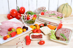 Choice of cold cuts Stock Photo