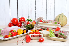 Choice of cold cuts Royalty Free Stock Image