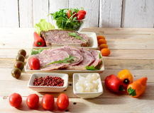 Choice of cold cuts Royalty Free Stock Photography