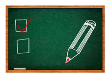 Choice concept on chalkboard Royalty Free Stock Images