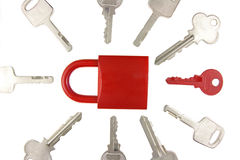 Choice concept. Choosing the right key for solving a problem Stock Photography