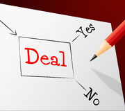 Choice Deal Shows Best Deals And Agreement Royalty Free Stock Images