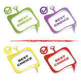 Choice design element Royalty Free Stock Images