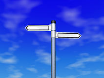 Choice of  direction in the sky. Three dimensional model Royalty Free Stock Image