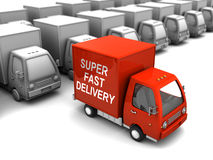 Choice fast delivery. Conceptual 3d illustration of choice fast delivery from many overs Stock Photos