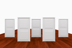 Choice with five door Royalty Free Stock Photography