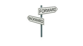 Choice between forward and backward Royalty Free Stock Image