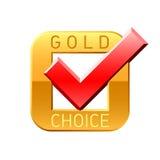 choice gold tick Стоковое фото RF
