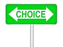 Choice green road sign 3d concept Royalty Free Stock Image
