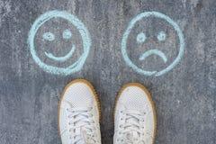 Choice - Happy Smileys or Unhappy Stock Photos