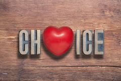 Choice heart wooden Royalty Free Stock Photos