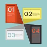 1-4 choice infographics design banner.  Stock Photos