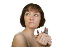 Choice of lipstick Royalty Free Stock Images