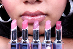 Choice of Lipsticks Stock Photo