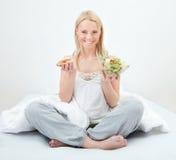 choice mat som gör frestat kvinnabarn Royaltyfria Foton