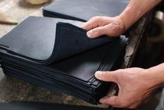 Choice of materials. For the handbag Royalty Free Stock Photo