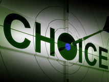 Choice Means Choose Option Or Alternative Royalty Free Stock Photos