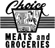 Choice Meats And Groceries Stock Photos