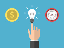 Choice money, idea, time Royalty Free Stock Images
